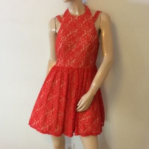 Beautiful Red Lace dress City Studio size 11